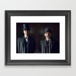 Holmes and Watson Framed Art Print