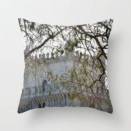 Belem Tower Through Trees Throw Pillow