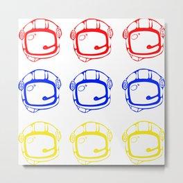 Tricolor helmet Metal Print