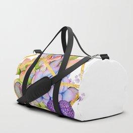 Succulent Geometry gold wire geometric frames Duffle Bag