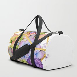 Succulent Geometry gold wire geometric frames Duffle Bag