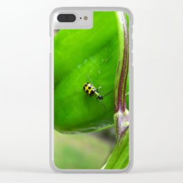 Yellow Lady Bug 0754 Clear iPhone Case