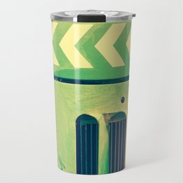Road Roller Chevron 02 - Industrial Abstract (everyday 18.01.2017) Travel Mug
