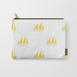 Yellow Sailboat Pattern Carry-All Pouch