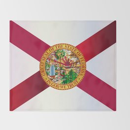 Florida State Metal Flag Throw Blanket
