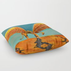The Conquering Lion Floor Pillow