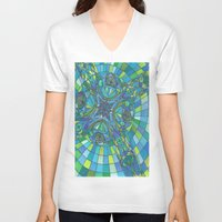 faith V-neck T-shirts featuring Faith by inara77