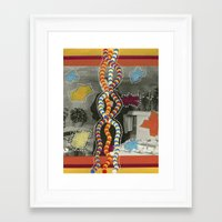 dna Framed Art Prints featuring DNA by Naomi Vona