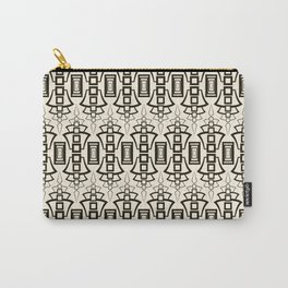 Black and beige Art Deco 2 . Carry-All Pouch