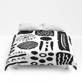 Abstract Hand Drawn Patterns No.3 Comforters