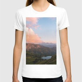 Mountain lake in Germany with Moon - landscape photography T-shirt