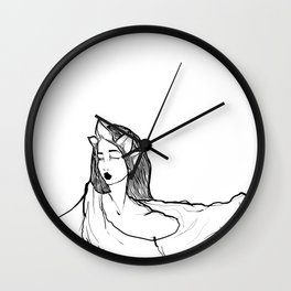 Leaf crown Wall Clock