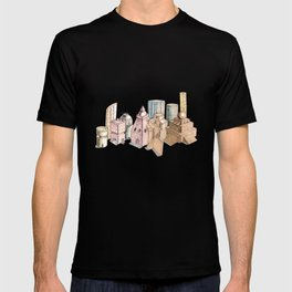 the city painted in pastel colours . illustration T-shirt