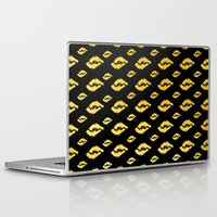guns Laptop & iPad Skins featuring Golden Guns by deff