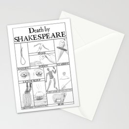 Death by Shakespeare Stationery Cards