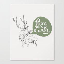 Christmas Carol Elk Canvas Print