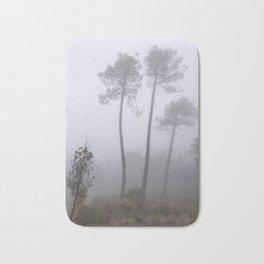 """Wonderful trees"". Into the foggy woods Bath Mat"