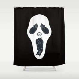 Screaming Cats Shower Curtain