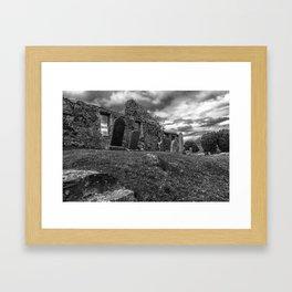 Ruins of the Cill Chriosd Church and Cemetery Framed Art Print