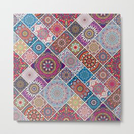 decoration Colorful oriental style Metal Print