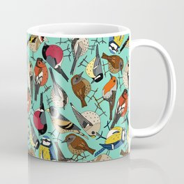 winter garden birds green Coffee Mug