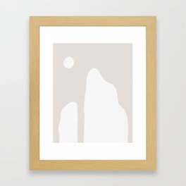 Shape Study #16 - Mountains in Taupe Framed Art Print