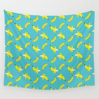 banana Wall Tapestries featuring Banana by metroymedio