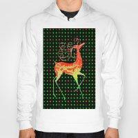 reindeer Hoodies featuring Reindeer by Saundra Myles