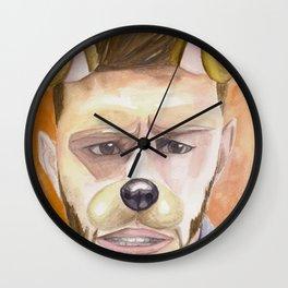Jensen Ackles, watercolor painting Wall Clock