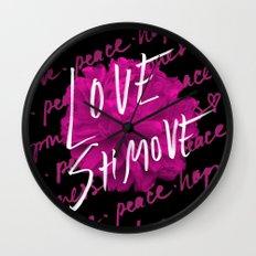 Love Shmove Wall Clock