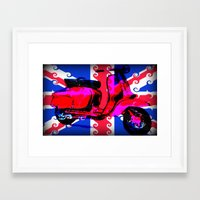 60s Framed Art Prints featuring 60s Spirit by elkart51