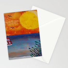 Tropical Beach Stationery Cards