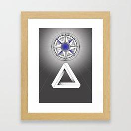 A star to follow Framed Art Print