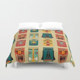MCM Tiki Friends Duvet Cover
