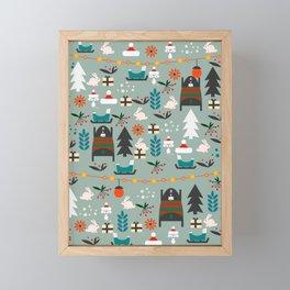 Everybody's waiting for Santa Framed Mini Art Print