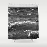 wave Shower Curtains featuring Wave by Pure Nature Photos