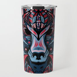 Wolf head art Travel Mug