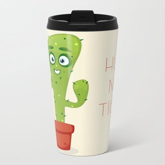 Hug the Cactus Metal Travel Mug