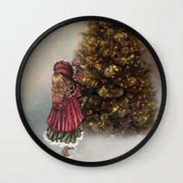Decorating The Christmas Tree Wall Clock