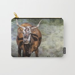 Pretty Female Cow with Horns Carry-All Pouch