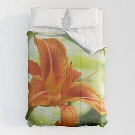 Orange Day Lily Comforters