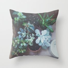 Plantlets Throw Pillow