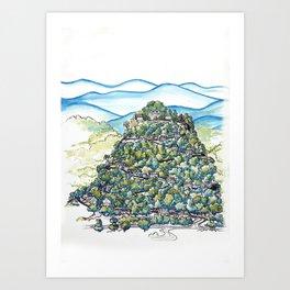Winding Mountain Road Art Print