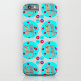 Love My Family Cats iPhone Case