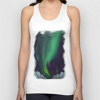 northern lights Tank Tops featuring northern lights by Ewa Pacia