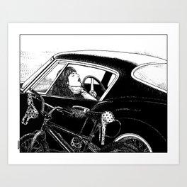 asc 432 - Le bolide noir (Never go into a black car) Kunstdrucke
