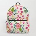 Pink Fuchsia Spring Flower Pattern by peladesign