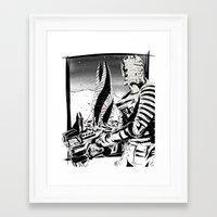 dead space Framed Art Prints featuring Dead Space by Averagejoeart