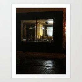 Outside The Edward Hopper Cafe Art Print