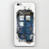 tardis iPhone & iPod Skins featuring Tardis by Zhavorsa